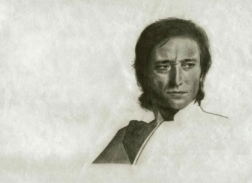 Retrato de Antonio Gades a lapiz, Madrid, septiembre 1984 - Dominique Abel