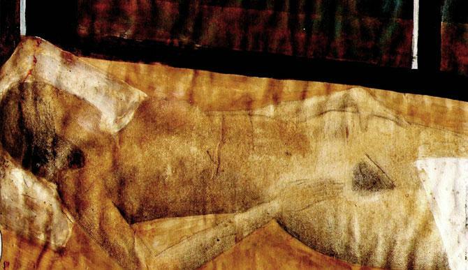 """Autorretrato en mi cama """"barco"""", 1996"""